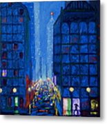 Midnight Drizzle Metal Print