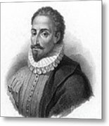 Miguel De Cervantes, Spanish Author Metal Print