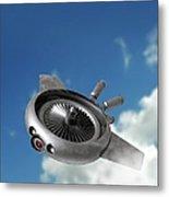 Military Drone, Conceptual Artwork Metal Print