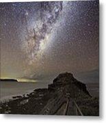 Milky Way Over Cape Schanck, Australia Metal Print