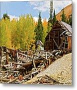 Mining Ruins Metal Print
