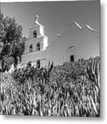 Mission San Diego De Alcala Monochrome Metal Print