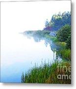 Misty Morning Big Ditch Lake Metal Print