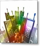 Mobile Phones Metal Print