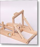Model Catapult Metal Print