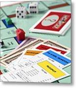 Monopoly Board Game Metal Print