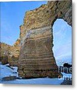Monument Rocks Arch Metal Print