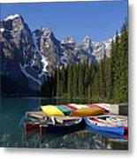 Moraine, Lake, Banff Nationalpark, Alberta Metal Print