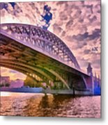 Moscow's Bridges Metal Print