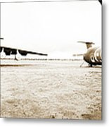 Mothballed C-141s Metal Print by Jan W Faul