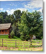 Mountain Cabin - Rural Idaho Metal Print