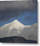 Mt Humphreys Covered In Snow Metal Print