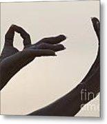 Mudra Hand Gesture Metal Print