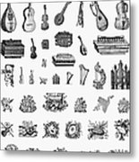Musical Instruments Metal Print by Granger