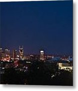 Nashville By Night Metal Print