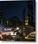 Navy Pier At Night Metal Print