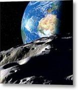 Near-earth Asteroid, Artwork Metal Print by Detlev Van Ravenswaay
