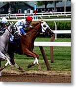 Neck And Neck At Saratoga One Metal Print