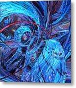 Neon Abstract Fx  Metal Print