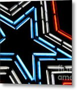 Neon Star Metal Print by Darren Fisher