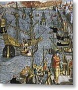 New World: Voyage, 1592 Metal Print