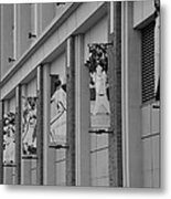 New York Mets Of Old In Black And White Metal Print