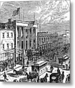 New York: The Bowery, 1871 Metal Print