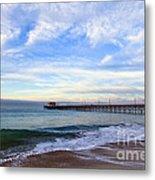 Newport Beach Pier Metal Print by Paul Velgos