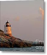 Newport Lighthouse Metal Print
