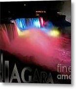 Niagara Falls Postcard Metal Print