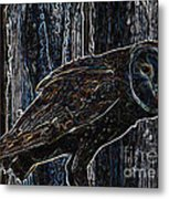Night Owl - Digital Art Metal Print