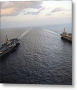Nimitz-class Aircraft Carriers Transit Metal Print