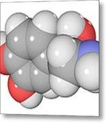 Norepinephrine Neurotransmitter Molecule Metal Print