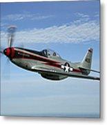 North American P-51 Cavalier Mustang Metal Print