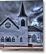 Norwegian Church Cardiff Bay Metal Print
