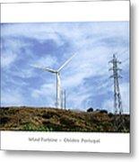 Obidos Wind Turbine II Portugal Metal Print