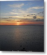 Observation Tower Sunset  Metal Print