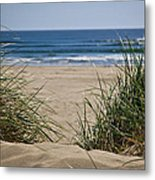 Ocean View With Sand Metal Print