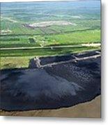 Oil Plant Settling Pond Metal Print by David Nunuk