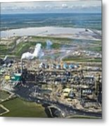 Oil Processing Plant, Athabasca Oil Sands Metal Print