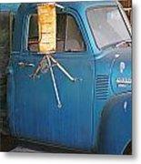 Old Blue Farm Truck Metal Print