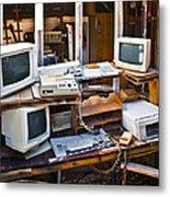 Old Computers In Storage Metal Print