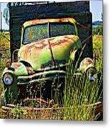 Old Green Truck Metal Print