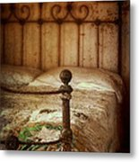 Old Iron Bed Metal Print