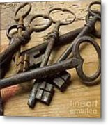 Old Keys Metal Print