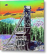 Old Mining Structure Metal Print