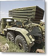 Old Russian Bm-21 Launch Vehicle Metal Print