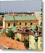 Old Town In Warsaw Metal Print