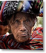 Old Woman Of Chichicastenango Metal Print