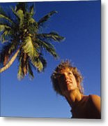 On Little Palm Island Metal Print